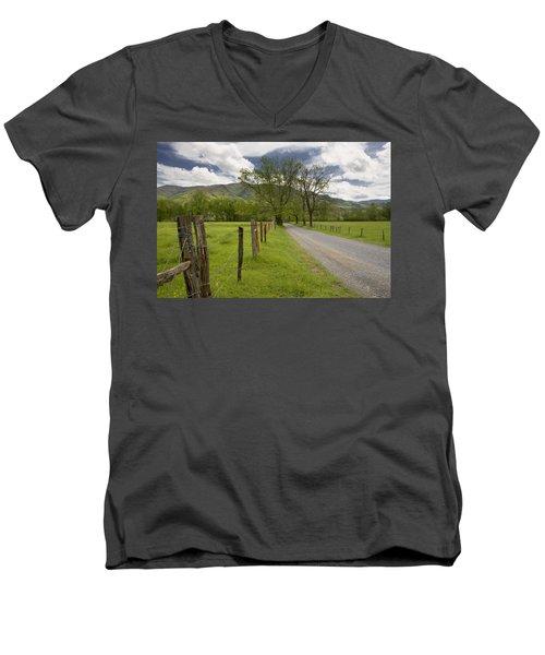 Sparks Lane In Cade Cove Men's V-Neck T-Shirt