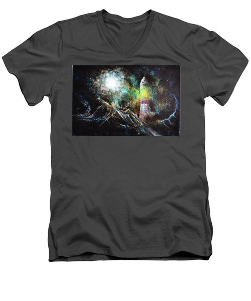 Sparks - The Storm At The Start Men's V-Neck T-Shirt by Sandro Ramani