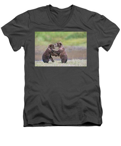 Sparring Cubs Men's V-Neck T-Shirt