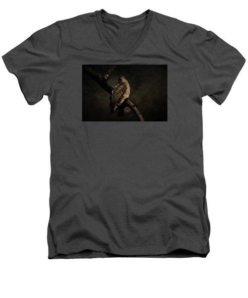 Sparrow Hawk Men's V-Neck T-Shirt by Manjot Singh Sachdeva