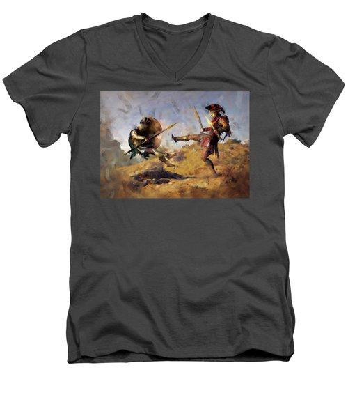 Spartan Hoplite - 12 Men's V-Neck T-Shirt