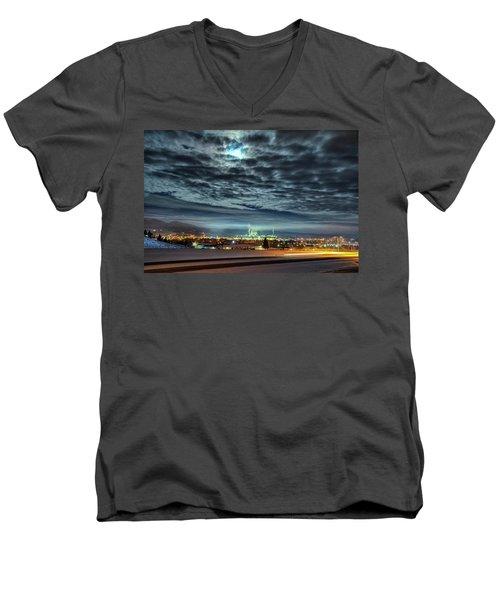 Spearfish Under The Moon Men's V-Neck T-Shirt by Fiskr Larsen