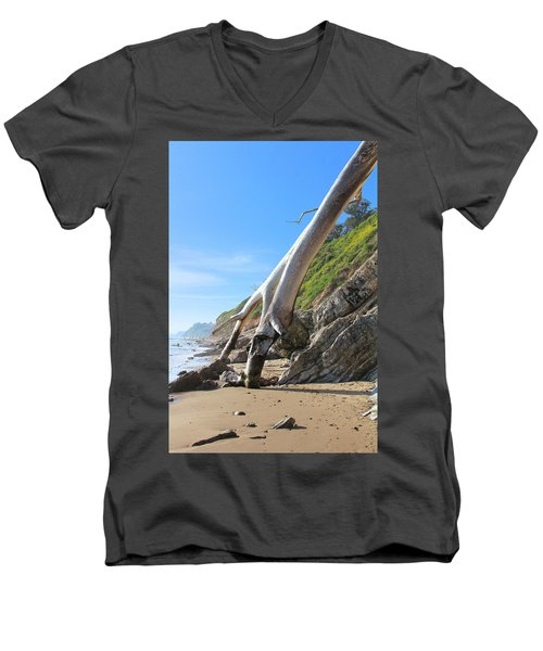 Men's V-Neck T-Shirt featuring the photograph Spears On The Coast by Viktor Savchenko