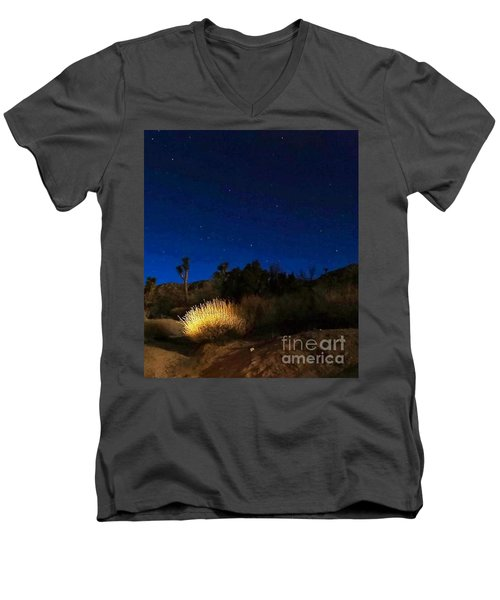 Special Glow Men's V-Neck T-Shirt by Angela J Wright