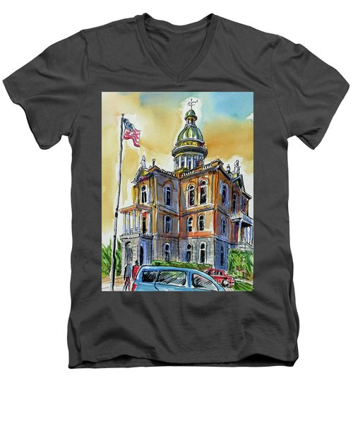 Spectacular Courthouse Men's V-Neck T-Shirt