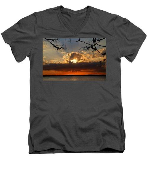 Spectacular Cuban Sunset Men's V-Neck T-Shirt