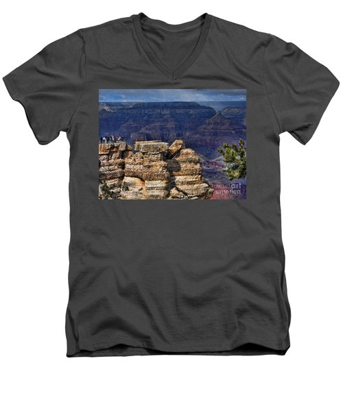 Men's V-Neck T-Shirt featuring the photograph Spectacular Grand Canyon by Roberta Byram