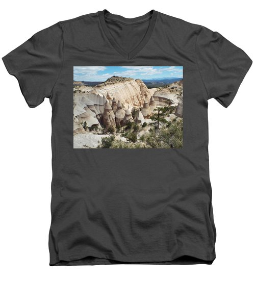 Spectacular Slot Canyon Trail View-at-the-top Men's V-Neck T-Shirt by Cindy Croal