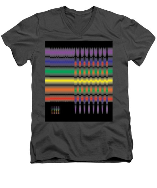 Spectral Integration Men's V-Neck T-Shirt by Kevin McLaughlin