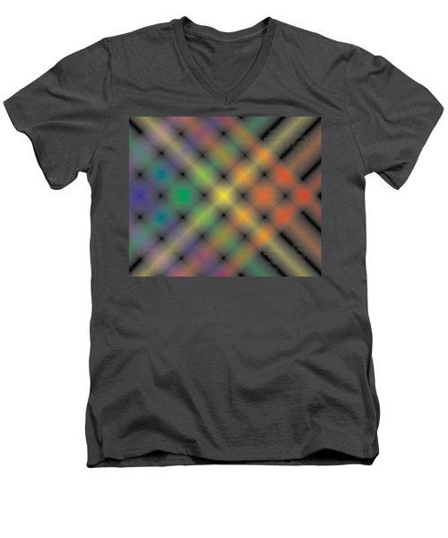 Spectral Shimmer Weave Men's V-Neck T-Shirt