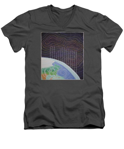 Spectrum Earth Spacescape Men's V-Neck T-Shirt