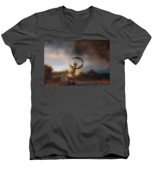 Sphere 13 Rembrandt Men's V-Neck T-Shirt by David Bridburg