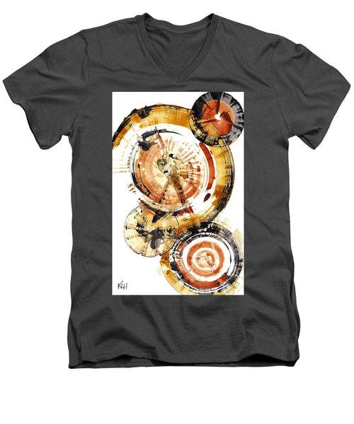 Men's V-Neck T-Shirt featuring the painting Sphere Series 1020.050112 by Kris Haas