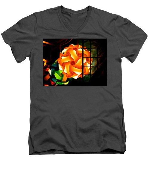 Spheres Of Light Electrified Men's V-Neck T-Shirt