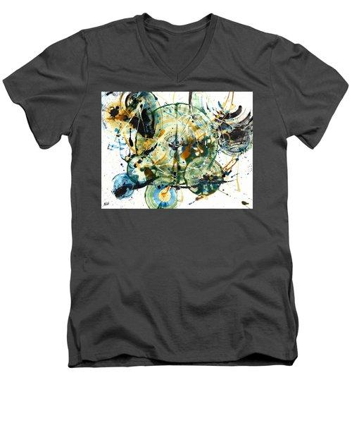 Spherical Joy Series 170.171.011011 Men's V-Neck T-Shirt by Kris Haas