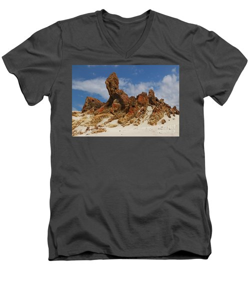 Men's V-Neck T-Shirt featuring the photograph Sphinx Of South Australia by Stephen Mitchell