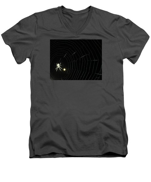 Spider Moon Men's V-Neck T-Shirt