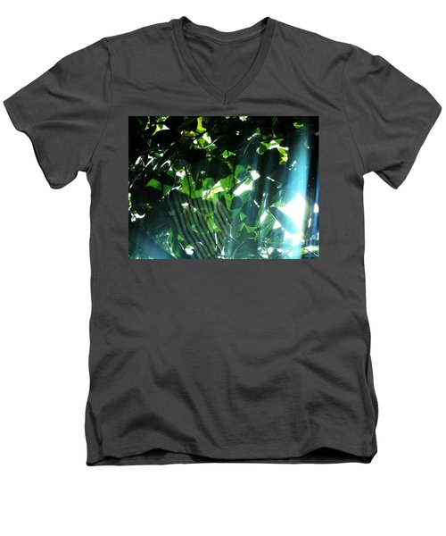 Men's V-Neck T-Shirt featuring the photograph Spider Phenomena by Megan Dirsa-DuBois