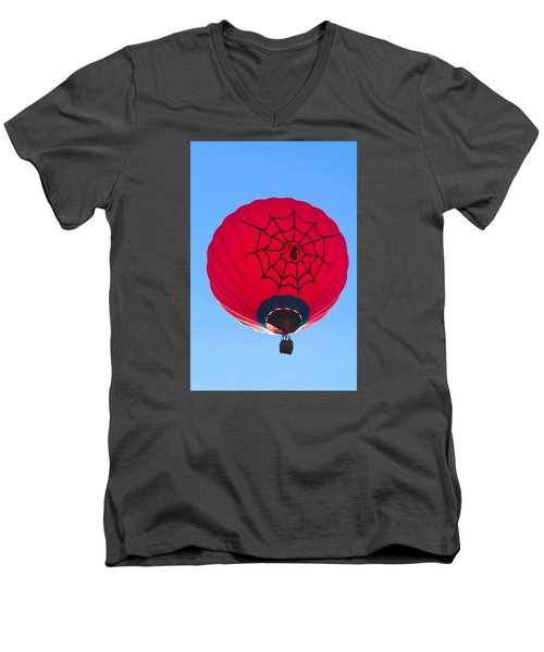 Men's V-Neck T-Shirt featuring the photograph Spiderballoon by Brenda Pressnall