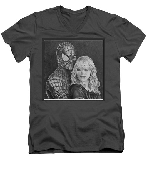 Spidey And Gwen Men's V-Neck T-Shirt