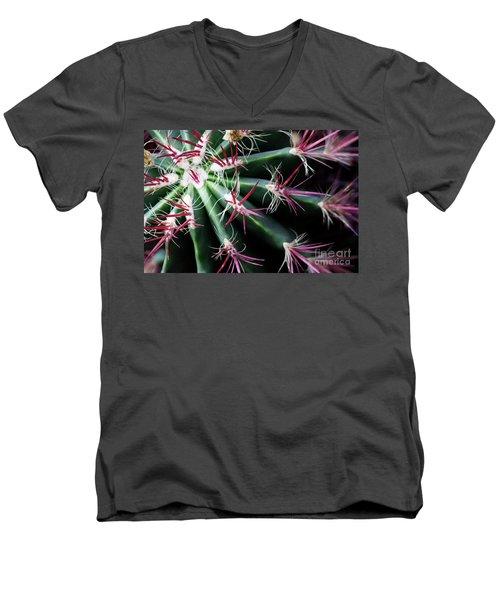 Spikes Men's V-Neck T-Shirt by Ana Mireles