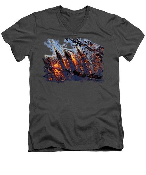 Spiking Men's V-Neck T-Shirt