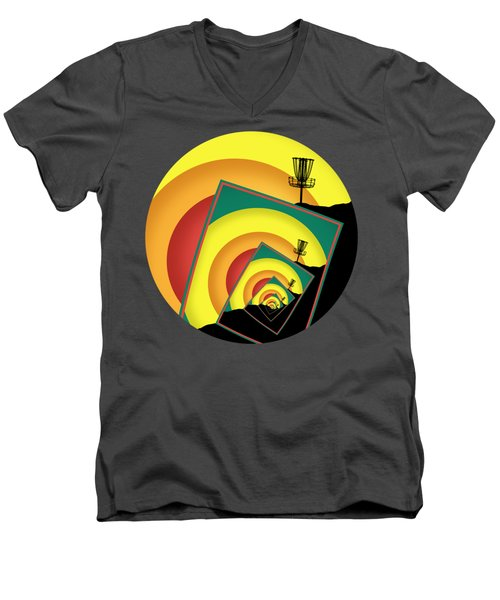 Spinning Disc Golf Baskets 3 Men's V-Neck T-Shirt
