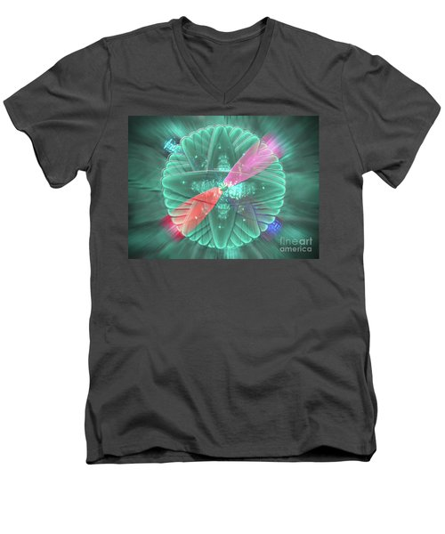 Men's V-Neck T-Shirt featuring the photograph Spinning Lights by Rockin Docks Deluxephotos