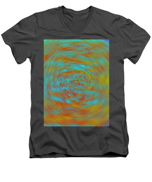 Men's V-Neck T-Shirt featuring the photograph Spinning Out Of Control by Lenore Senior