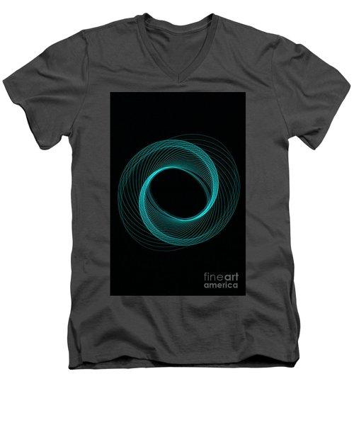 Spiral Aqua  Men's V-Neck T-Shirt
