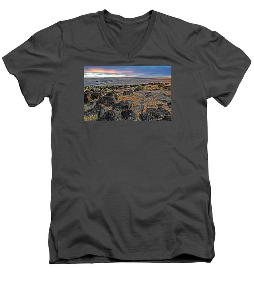 Spiral Jetty Men's V-Neck T-Shirt