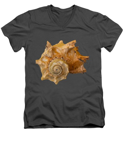 Spiral Shell Transparency Men's V-Neck T-Shirt