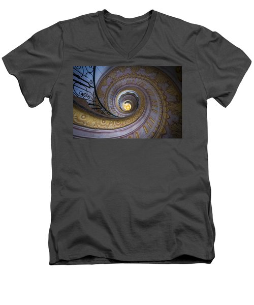 Spiral Staircase Melk Abbey IIi Men's V-Neck T-Shirt