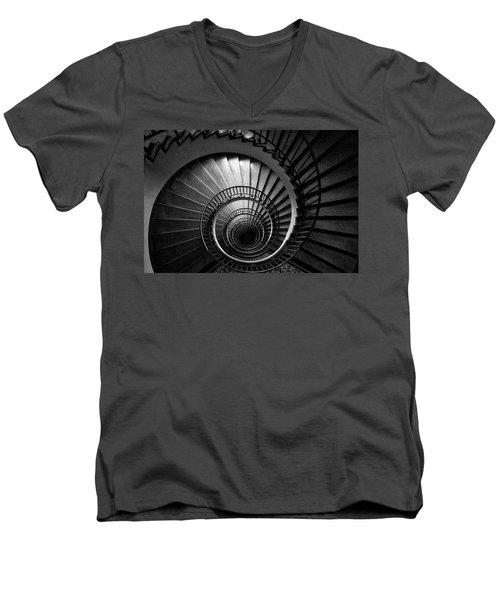 Spiral Staircase Men's V-Neck T-Shirt