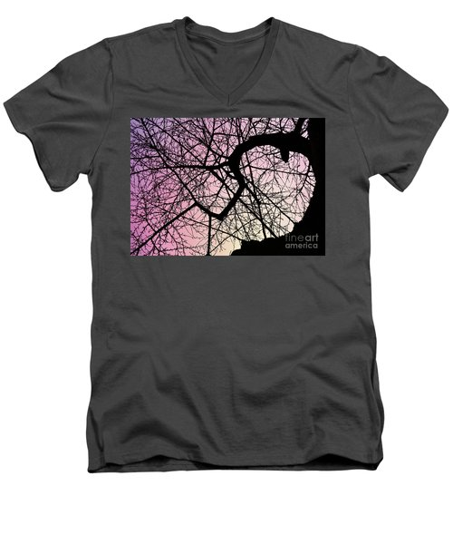 Spiral Tree Men's V-Neck T-Shirt
