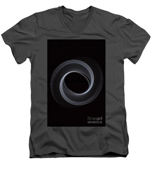 Spiral White Men's V-Neck T-Shirt