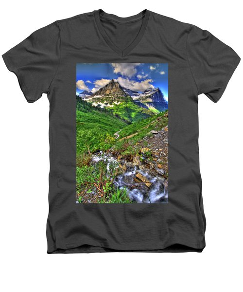 Spires And Stream Men's V-Neck T-Shirt by Scott Mahon