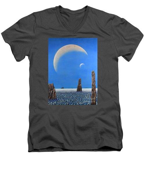 Spires Of Triton Men's V-Neck T-Shirt