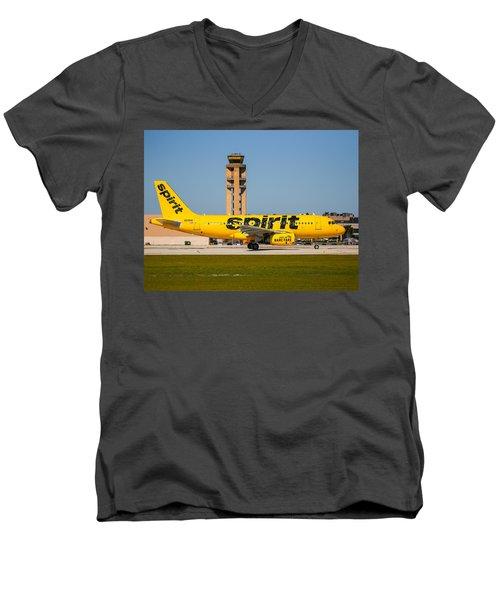 Spirit Airline Men's V-Neck T-Shirt