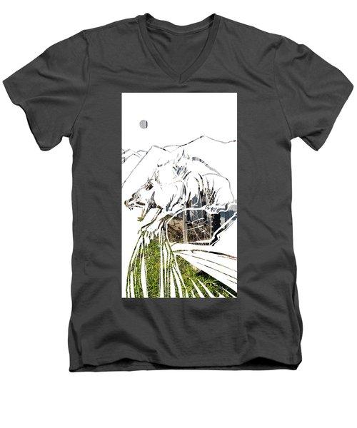 Spirit Animal . Wolverine Men's V-Neck T-Shirt