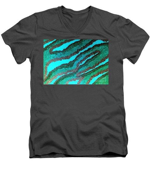 Spirit Journey Peaceful Restoration  Men's V-Neck T-Shirt by Rachel Hannah