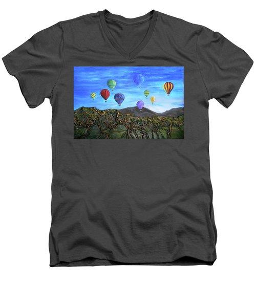 Spirit Of Boise Men's V-Neck T-Shirt by Angela Stout