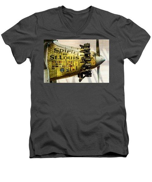 Spirit Of St Louis Men's V-Neck T-Shirt
