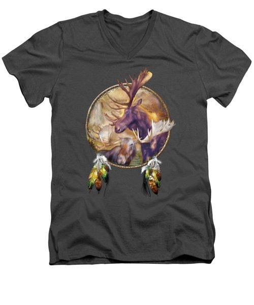 Spirit Of The Moose Men's V-Neck T-Shirt by Carol Cavalaris