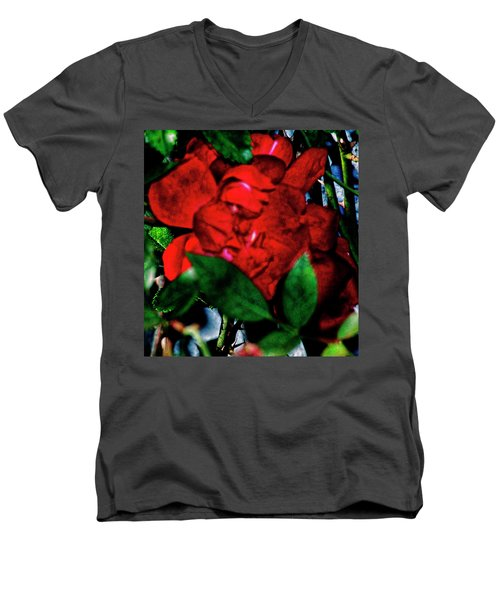 Spirit Of The Rose Men's V-Neck T-Shirt