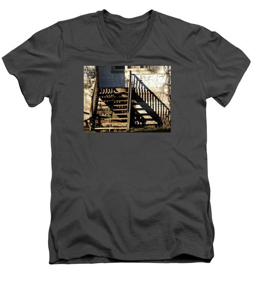 Spirit Stairs Men's V-Neck T-Shirt by Brian Chase