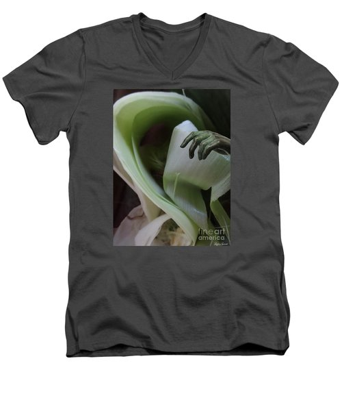 Men's V-Neck T-Shirt featuring the photograph Spirit Touch by Lyric Lucas
