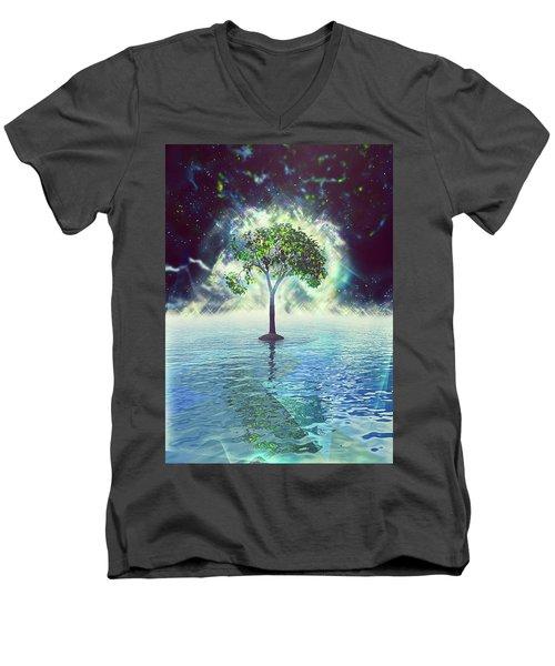 Spirit Tree Men's V-Neck T-Shirt