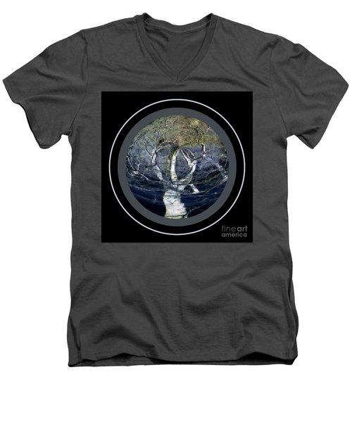 Spirit Tree Men's V-Neck T-Shirt by Jodie Marie Anne Richardson Traugott          aka jm-ART