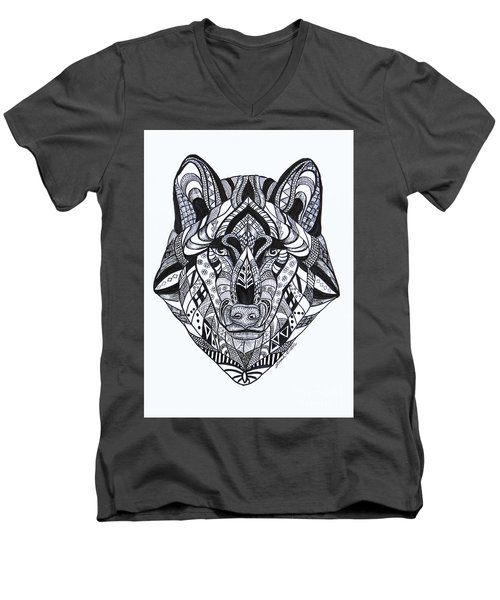 Spirit Wolf Men's V-Neck T-Shirt